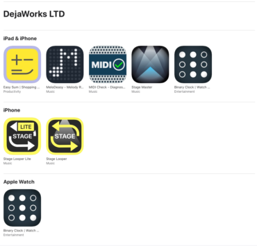 DejaWorks LTD On App Store
